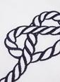 Tril Tek Kişilik Nakışlı Yumuşak Penye Pike Beyaz